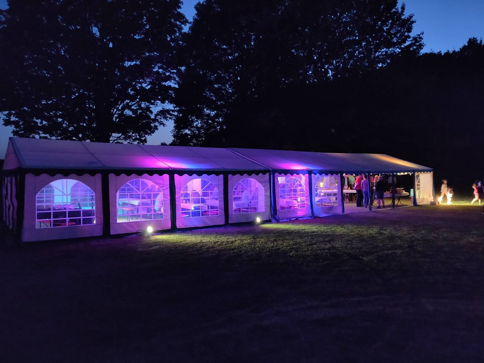 Ausleuchtung Partyzelt Outdoor